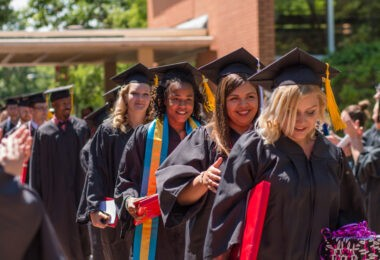 McPherson College commencement ceremony recessional.