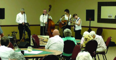 Courtesy Photo The Flatland String Band performs at the launch of the Vision 20/20 Campaign at The Cedars.